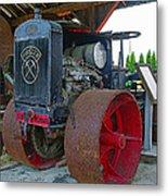 Big Steel Wheel Tractor Metal Print