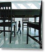 Big Table And Chairs Metal Print