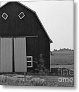 Big Tooth Barn Black And White Metal Print