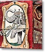 Big Top Elephants Metal Print