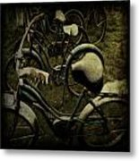 Bike Graveyard Metal Print