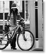 Biker Chick Metal Print