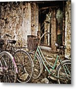 Bikes And A Window Metal Print