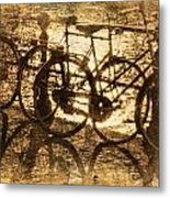 Bikes On The Canal Metal Print by Skip Nall