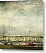 Biloxi Bay Bridge Metal Print