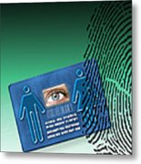 Biometric Id Card Metal Print