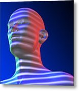 Biometric Scanning Metal Print by Pasieka