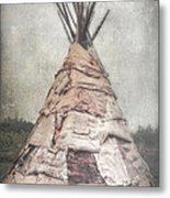 Birch Teepee Metal Print