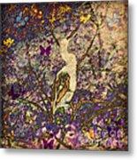 Bird And Butterflies Metal Print