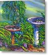 Bird Baths Metal Print