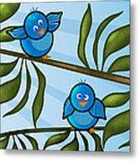 Bird Branch Metal Print by Melisa Meyers