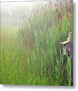 Bird House In Quogue Wildlife Preserve Metal Print