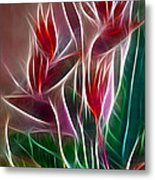 Bird Of Paradise Fractal Metal Print