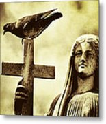 Bird On The Cross Metal Print