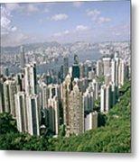 Birds Eye View Over Hong Kong Metal Print
