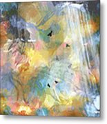 Birds In A Nebula Metal Print