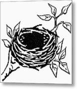 Birds Nest Metal Print