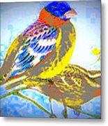 Birds Of Color Metal Print