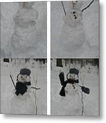 Birth Of A Snowman Metal Print