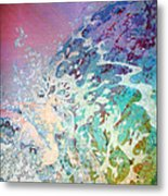 Birth Of Aphrodite From The Sea Foam Metal Print