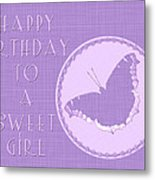 Birthday Girl Greeting Card - Mourning Cloak Butterfly Metal Print