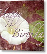 Birthday Greeting Card - Bindweed Morning Glory Metal Print