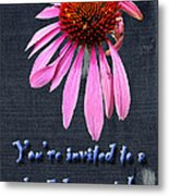 Birthday Party Invitation - Coneflower Metal Print