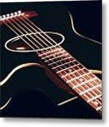 Black Acoustic Guitar Metal Print