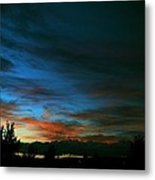 Black And Blue Metal Print by Kevin Bone