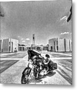 Black And White - Pgr At Houston National Cemetery Metal Print