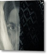 Black And White And Grey Metal Print