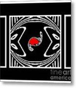 Minimalism Black White Red Abstract Art No.171. Metal Print