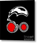 Black And White And Red Abstract Art No.205. Metal Print