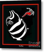 Black And White And Red No.53. Metal Print