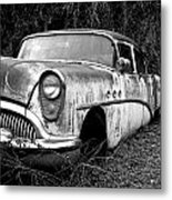 Black And White Buick Metal Print by Steve McKinzie