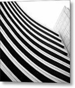 Black And White Building Curve Shape  Metal Print