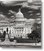 Black And White Capitol Metal Print