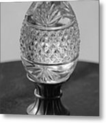 Black And White Egg Metal Print
