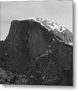 Black And White Half Dome Metal Print