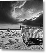 Black And White In Dungeness Metal Print