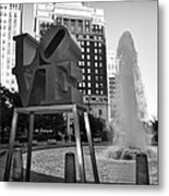 Black And White Love Metal Print