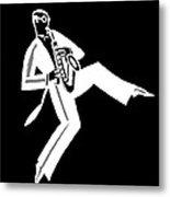 Black And White Saxophone Metal Print