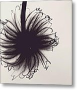 Black And White Twist Metal Print