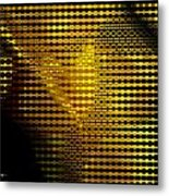 Black And Yellow Abstract I Metal Print