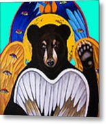 Black Bear Seraphim Photoshop Metal Print by Christina Miller