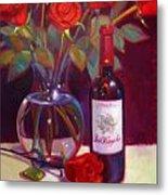 Black Cherry Bouquet Metal Print