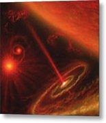 Black Hole & Red Giant Star Metal Print