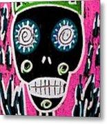 Black King Sugar Skull Angel Metal Print