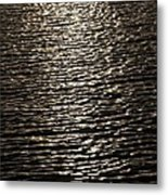 Black Water Metal Print by Miguel Capelo