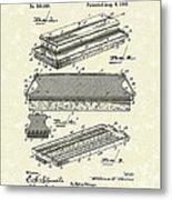 Blackboard Eraser 1893 Patent Art Metal Print